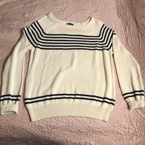 Market & Spruce rolled neck crewneck sweater